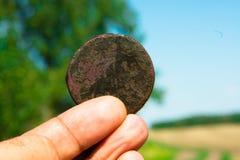 starożytna monet zdjęcia stock