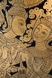starożytna sztuka tajska Zdjęcia Stock