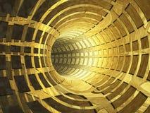 starożytne abstrakcyjne złotego tunelu royalty ilustracja