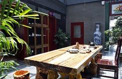 starożytne chiny herbaciarnię Obrazy Royalty Free