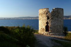 starożytne ruiny kamienia wieży Zdjęcie Stock