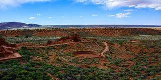 starożytne ruiny Wupatki ruiny piłki sąd Wupatki obywatel Monumen Obraz Royalty Free