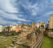 Starożytnego Grka APOLLO świątynia. Syracuse Siracusa, Sarausa (,) Zdjęcie Royalty Free