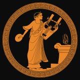 Starożytnego Grka bóg royalty ilustracja