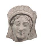 Starożytnego Grka bareliefu twarz odizolowywająca Zdjęcie Royalty Free