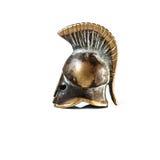Starożytnego Grka hełma spartanina styl Odizolowywający Obraz Royalty Free