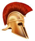 starożytnego grka hełma wojownik Zdjęcie Stock