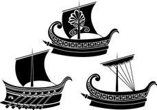 starożytnego grka statek ilustracja wektor