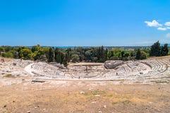 Starożytnego Grka teatr Syracuse, Sicily, Włochy zdjęcie royalty free