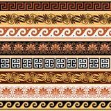 Starożytnego Grka wzór - bezszwowy set antyk graniczy od Grecja ilustracji