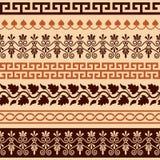 Starożytnego Grka wzór - bezszwowy set antyk graniczy od Grecja ilustracja wektor