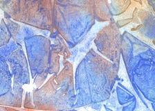 starożytny ciemności tła papieru akwareli żółty Fotografia Royalty Free