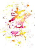 starożytny ciemności tła papieru akwareli żółty Zdjęcia Royalty Free