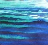 starożytny ciemności tła papieru akwareli żółty Abstrakcjonistyczna morze powierzchnia Ręka rysująca na textured papierowej ilust fotografia royalty free