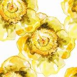 starożytny ciemności tła papieru akwareli żółty Bezszwowy egzotyczny tło Obrazy Royalty Free