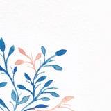 starożytny ciemności tła papieru akwareli żółty Kwiatu wizerunek Obraz Stock