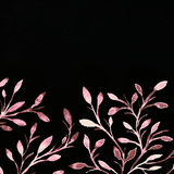 starożytny ciemności tła papieru akwareli żółty Kwiatu wizerunek Zdjęcie Stock