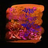 starożytny ciemności tła papieru akwareli żółty Kwiatu wizerunek Obrazy Royalty Free
