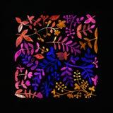 starożytny ciemności tła papieru akwareli żółty Kwiatu wizerunek Zdjęcie Royalty Free