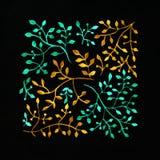starożytny ciemności tła papieru akwareli żółty Kwiatu wizerunek Kwiaty na imponująco su Obrazy Stock