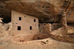 starożytny dom z amerykańskim Fotografia Stock