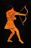 Starożytny Grek łuczniczka ilustracja wektor