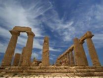 Starożytny Grek świątynia Juno, dolina świątynie, Agrigento, Sicily Zdjęcie Royalty Free
