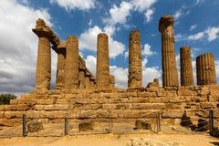 Starożytny Grek świątynia Juno w Agrigento Obrazy Royalty Free