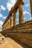 Starożytny Grek świątynia Juno w Agrigento Obrazy Stock