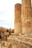 Starożytny Grek świątynia w Agrigento, Sicily, Włochy Obrazy Stock
