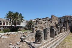 Starożytny Grek świątynia w siracusa, Sicily Obrazy Stock