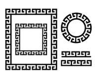 Starożytny Grek rama i granica - Kluczowego wzoru forma Grecja ilustracja wektor