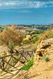 Starożytny Grek ruiny w dolinie świątynie blisko Agrigento, Sicily -, Włochy Zdjęcia Royalty Free
