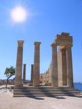 starożytny grek rujnuje świątynię Obrazy Stock