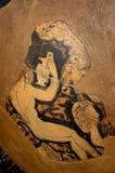 Starożytny Grek waza, oryginał, szczegół Fotografia Stock