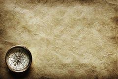starożytny kompas. Zdjęcia Royalty Free