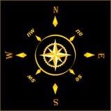 starożytny kompasowy złoto royalty ilustracja