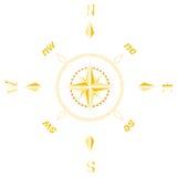 starożytny kompasowy złoto ilustracji