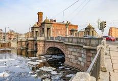 Staro-Kalinkin bridge over Fontanka river. Royalty Free Stock Photography