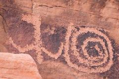 starożytni petroglify Obraz Royalty Free