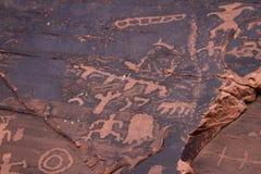starożytni petroglify Zdjęcie Stock