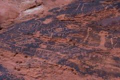 starożytni petroglify Zdjęcia Stock