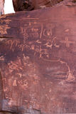 starożytni petroglify Fotografia Royalty Free