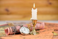 Starożytniczy kieszeniowy zegarek Zdjęcie Stock