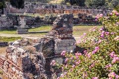 Starożytny Grek agora, Ateny, Grecja Zdjęcia Stock