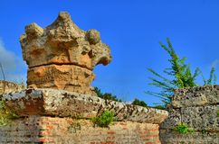 Starożytny Grek ruiny i kolumny Fotografia Royalty Free