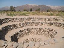 starożytny nazca systemu nawadniania Fotografia Stock
