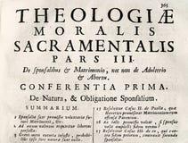 starożytny tekst teologiczny Zdjęcia Royalty Free