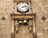 starożytny zegar Oxfordu Obrazy Stock