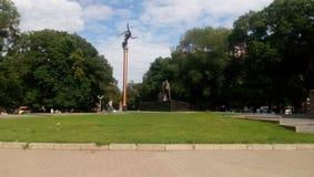 Starobazrarniy quadrato Odessa, Ucraina Immagini Stock